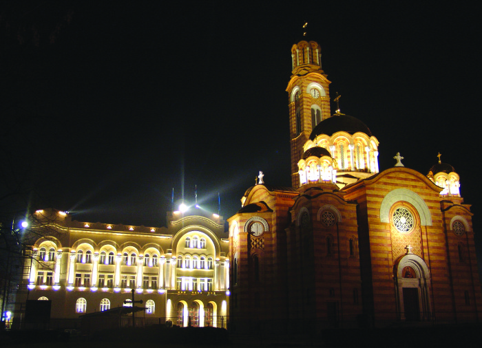 Church Hrista Spasitelja night